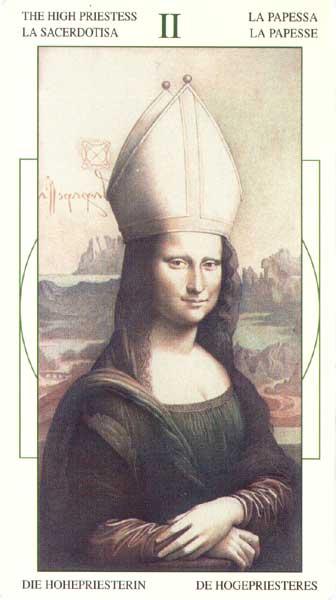 Жрица - Таро Леонарда да Винчи