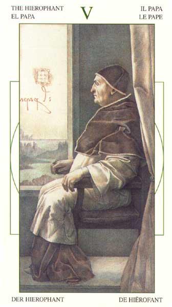 Жрец - Таро Леонарда да Винчи