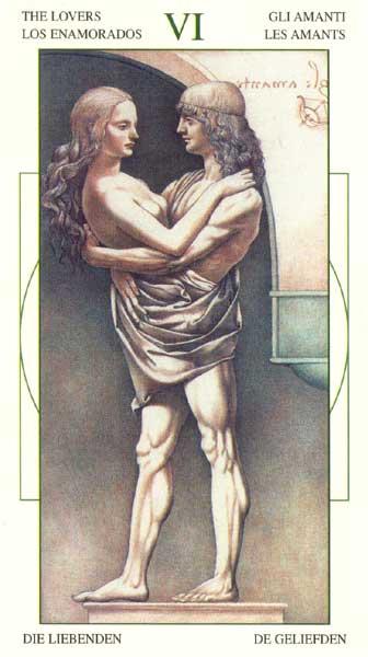 Влюбленные - Таро Леонарда да Винчи