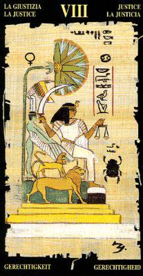 Правосудие - Колода Египетского Таро