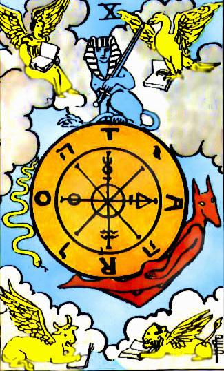 X Аркан Таро – Колесо Судьбы. Смысл.