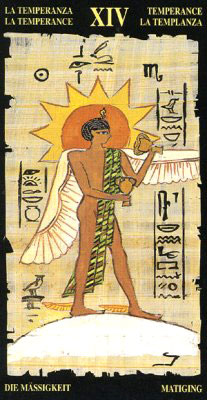 Умеренность - Колода Египетского Таро