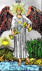 XIV Аркан Таро – Умеренность. Ангел.