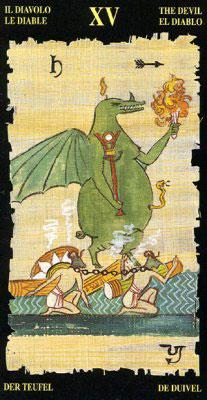 Дьявол - Колода Египетского Таро
