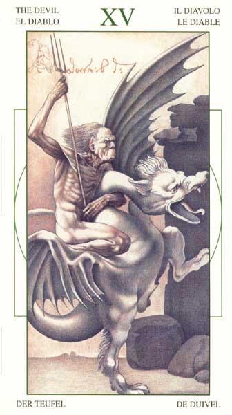 Дьявол - Таро Леонарда да Винчи