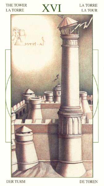 Башня - Таро Леонарда да Винчи