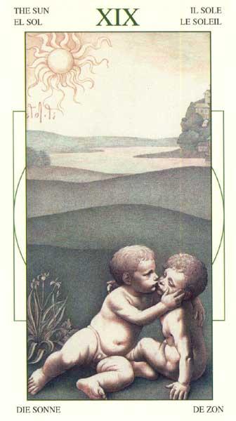 Солнце - Таро Леонарда да Винчи