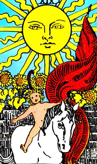 XIX Аркан Таро – Солнце. Счастье.