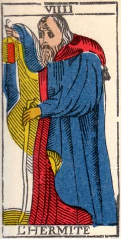 Отшельник - Марсельская колода таро