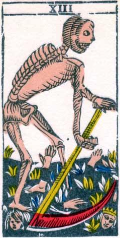 Смерть - Марсельская колода таро