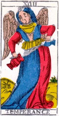 Умеренность - Марсельская колода таро