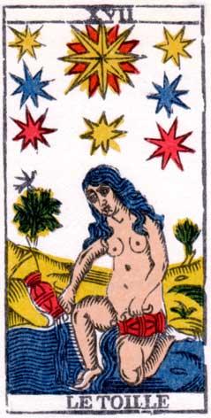Звезда - Марсельская колода таро