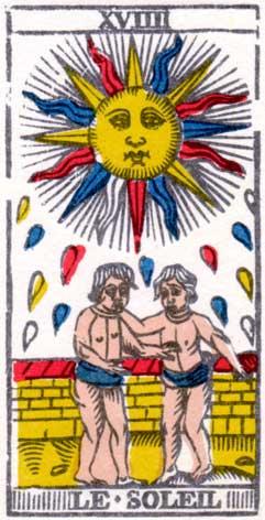 Солнце - Марсельская колода таро